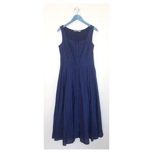 Wayward Fancies eShakti Navy Eyelet Maxi Dress